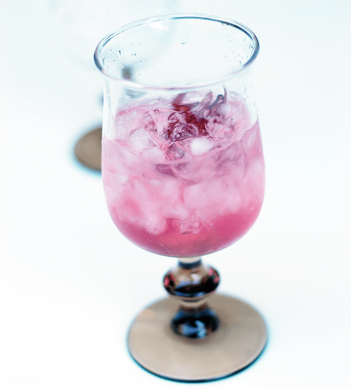 Heartbreaker Rose Syrup Cocktail -