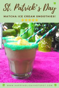 Green Matcha Ice Cream Smoothies