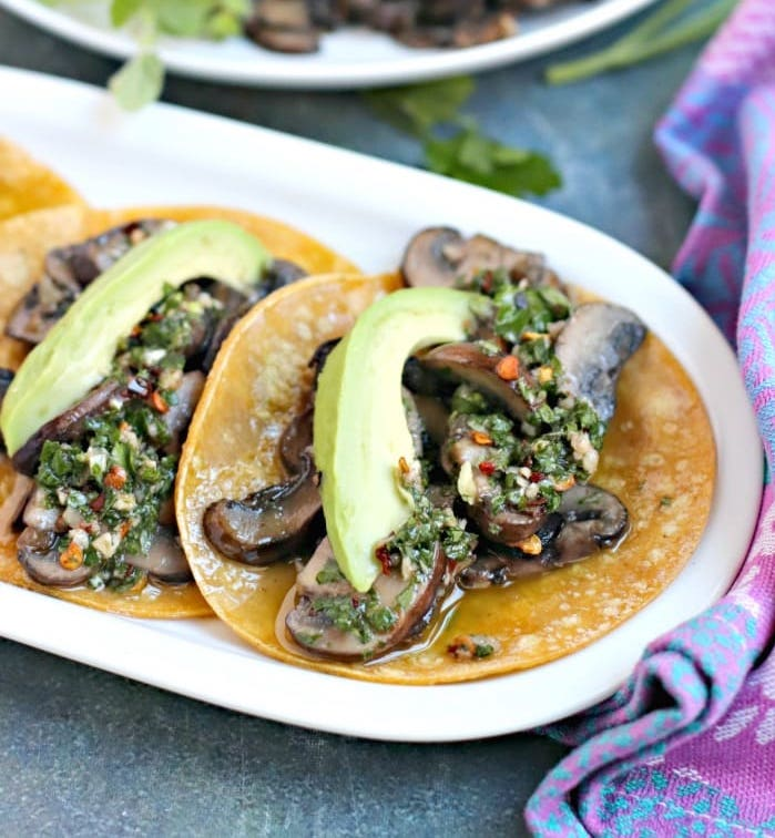 Chimichurri Tacos with Mushrooms
