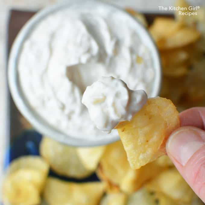 Guiltless French Onion Dip [the secretly skinny one]