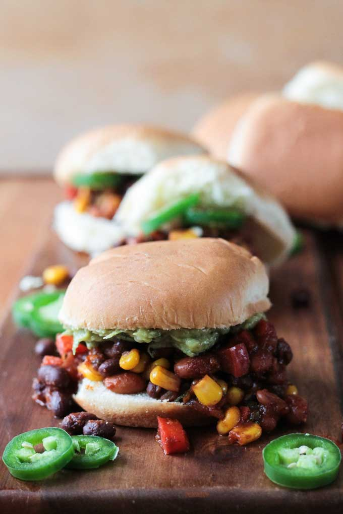 Meatless Mexican Sloppy Joes ~ Veggie Inspired