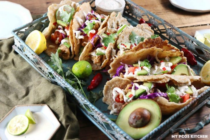 Gluten Free Low Carb Keto Fish Tacos