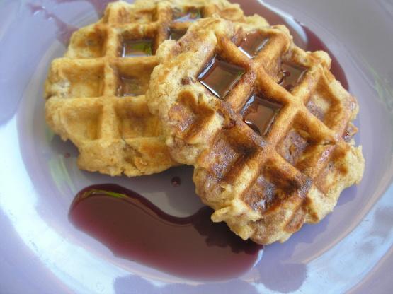 Oatmeal Nut Waffles Recipe